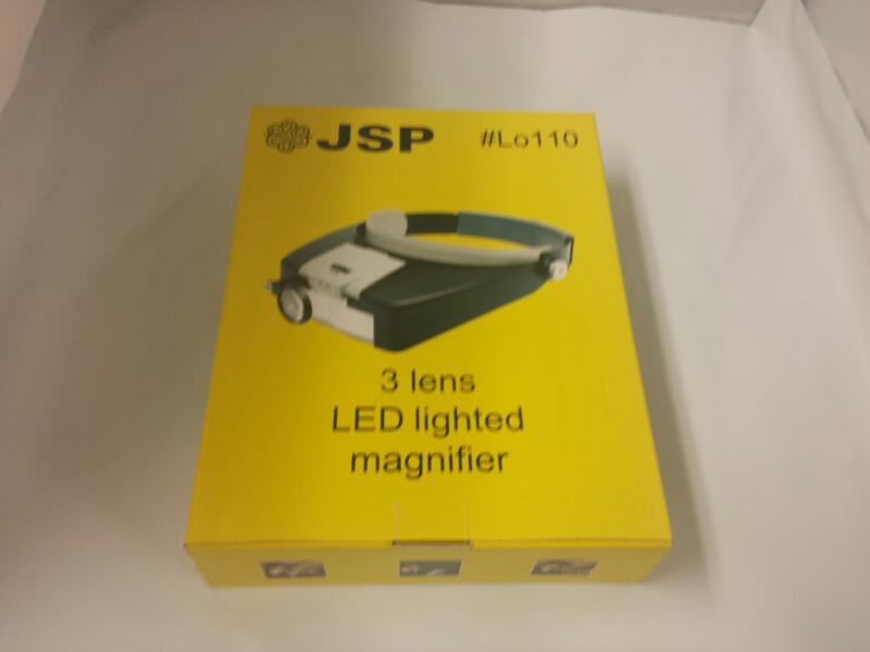 JSP #LO110 3 lens led lighted magnifier