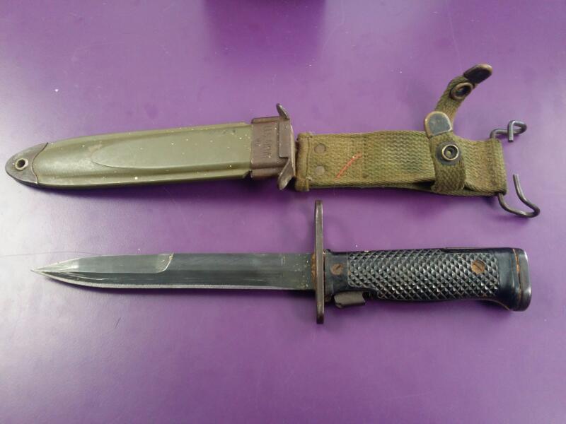 """Vintage 6.5"""" Vietnam Combat Knife U.S.M8AI WD"""