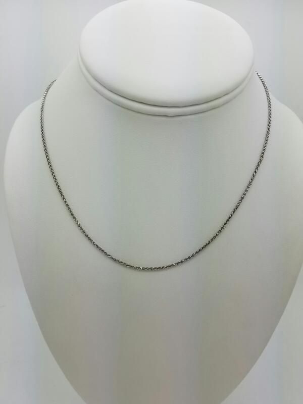 ROPE-SOLID  CHAIN L'S 14KT ROPE-SOLID 14K W/G ROPE CHAIN