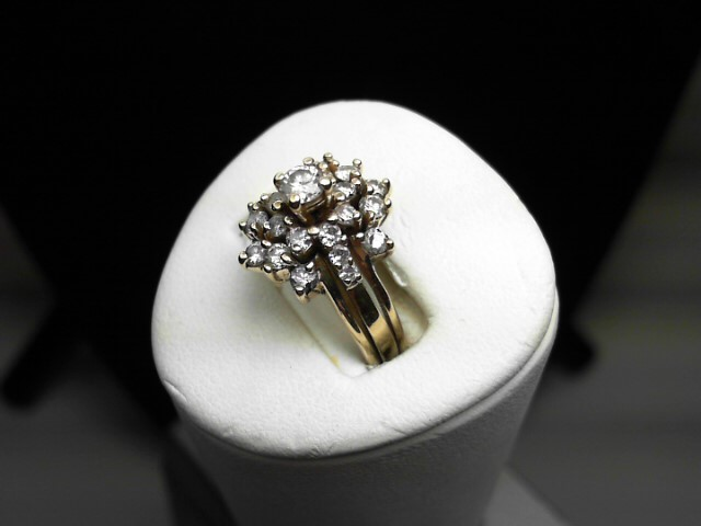 Lady's Diamond Solitaire Ring 23 Diamonds .70 Carat T.W. 14K Yellow Gold 5.9g