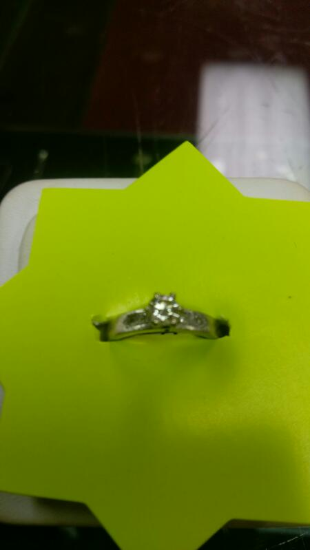 Lady's Diamond Engagement Ring .40 CT. 14K White Gold 2.9g