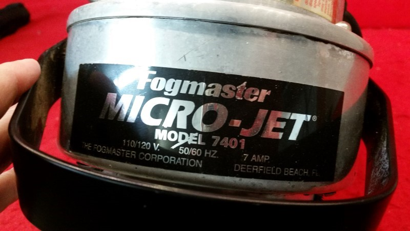 Fogmaster 7401 Micro Jet ULV Fogger Concrobium Mold Control Fogger Insect Fogger