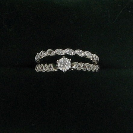 Lady's Diamond Wedding Set .20 CT. 14K White Gold 2.4dwt