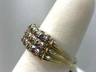 Lady's Diamond Fashion Ring 21 Diamonds .105 Carat T.W. 14K Yellow Gold 3dwt