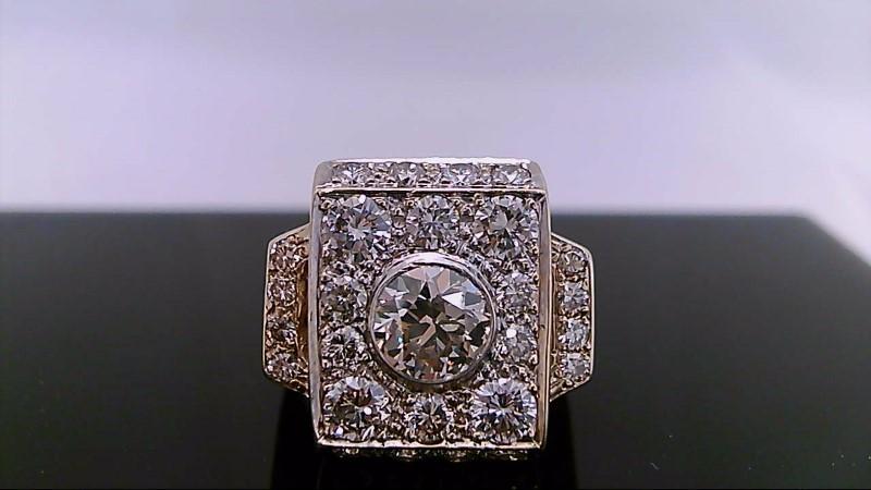 Gent's Diamond Fashion Ring 27 Diamonds 3.44 Carat T.W. 14K Yellow Gold 19.7g