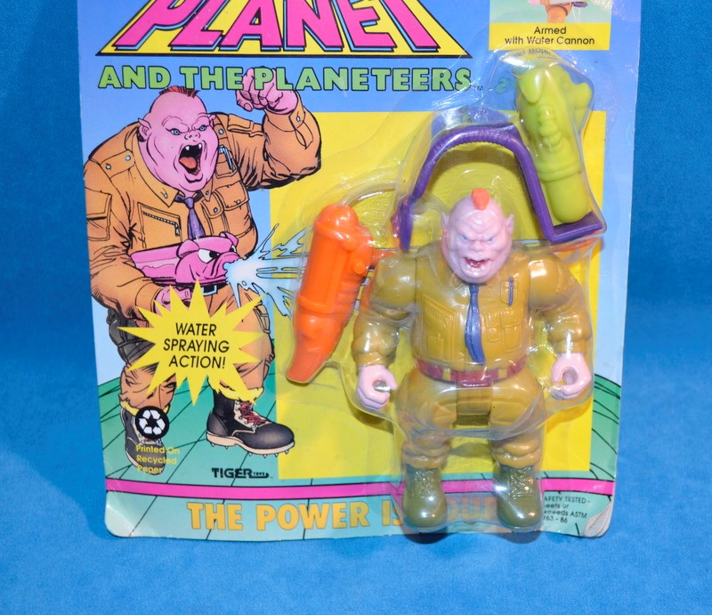 TIGER TOYS 80-629 CAPTAIN PLANET & THE PLANETEERS HOGGISH GREEDLY ACTION FIGURE