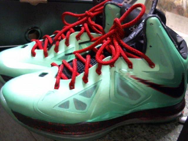 Nike LeBron X 10 CUTTING JADE CHINA Diamond Christmas US MENS SIZE 9.5