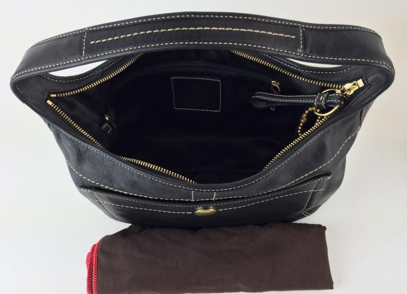 COACH BLACK LEATHER ERGO SHOULDER BAG 11283