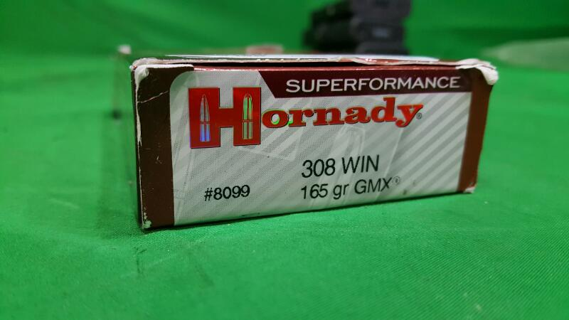 Hornady GMX® Superformance® .308 Win. 165-Grain Ammunition