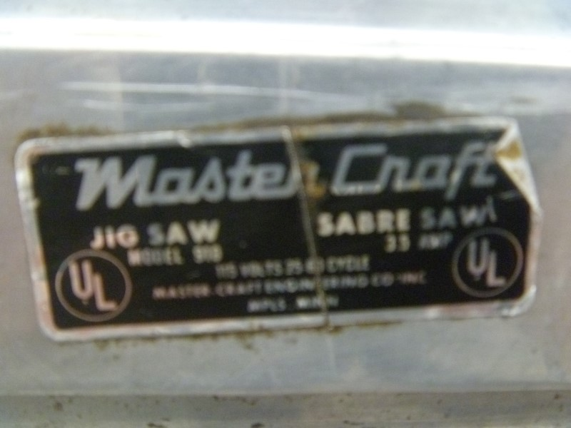 "MASTERCRAFT 910 3.5 AMP CORDED JIG SAW ""VINTAGE SABRE SAW"""