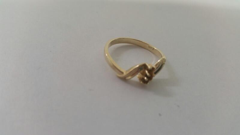 Lds 14K-Y/G 3-Stone Ring