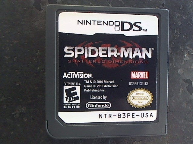 NINTENDO Nintendo DS Game SPIDERMAN SHATTERED DIMENSIONS DS