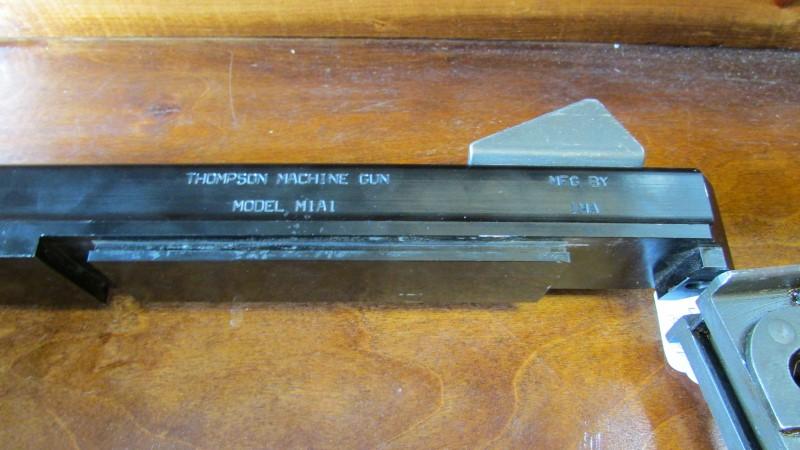 THOMPSON MACHINE GUN WALL HANGER