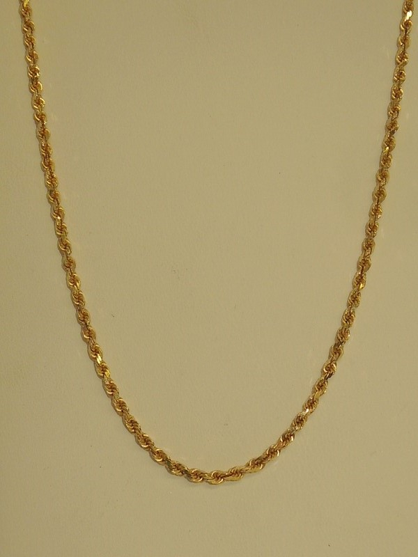 "18"" Gold Rope Chain 14K Yellow Gold 8.1g"