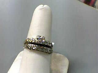 Lady's Diamond Wedding Set 11 Diamonds .13 Carat T.W. 14K Yellow Gold 2.2dwt