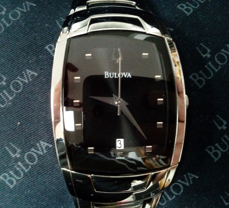 BULOVA MEN'S 96G46 STAINLESS STEEL WATCH