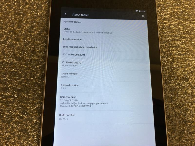 """ASUS NEXUS 7 GOOGLE TABLET 7.0"""" BLACK 16GB BUNDLE WIFI"""