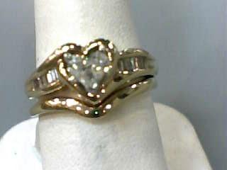 Lady's Diamond Wedding Set 11 Diamonds .55 Carat T.W. 14K Yellow Gold 3.6dwt