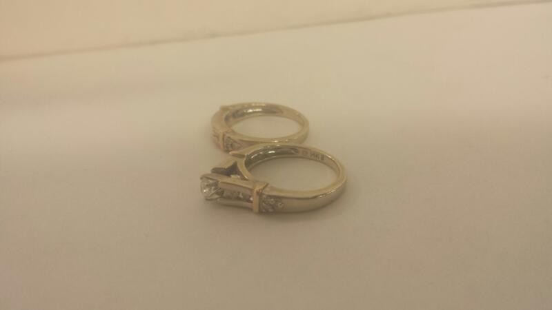 14K-W/G Lds Diamond Wedding Set