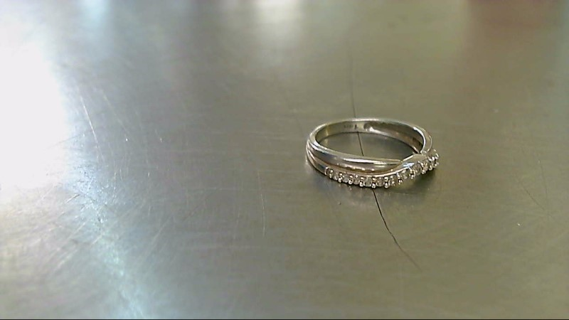 Lady's Diamond Wedding Band 17 Diamonds .51 Carat T.W. 14K White Gold 1.8g