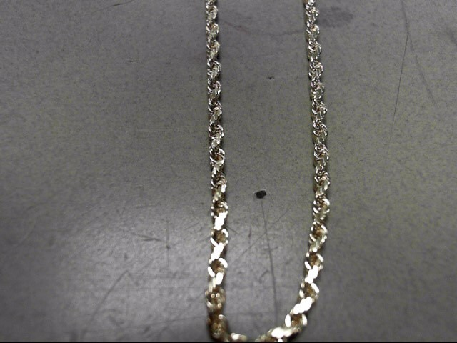"20"" Gold Rope Chain 10K Yellow Gold 6.8g"