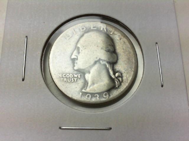 UNITED STATES Silver Coin 1939 WASHINGTON QUARTER