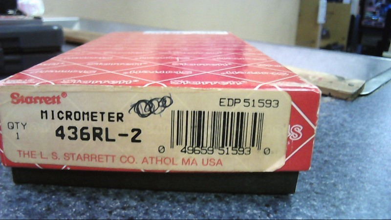 STARRETT Micrometer 436-1