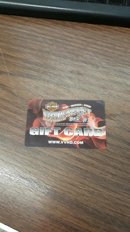 Vandervest Harley-Davidson (Green Bay, Wi) Gift Card $40 - Card in Hand