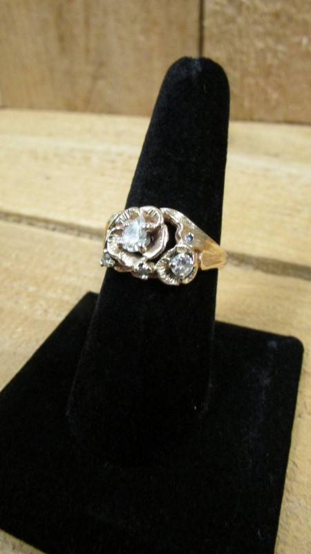 Lady's Diamond Fashion Ring 6 Diamonds .59 Carat T.W. 14K Yellow Gold 6.5g