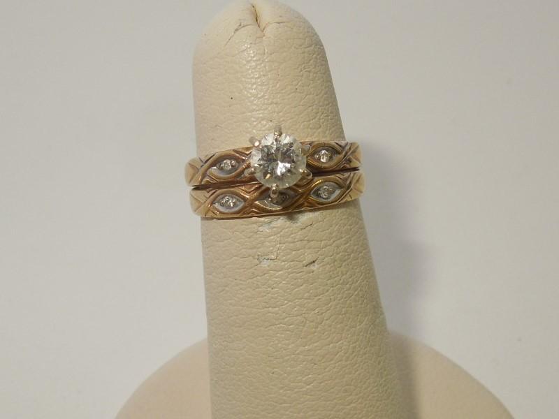Lady's Diamond Cluster Ring 6 Diamonds .38 Carat T.W. 10K Yellow Gold 2.8g