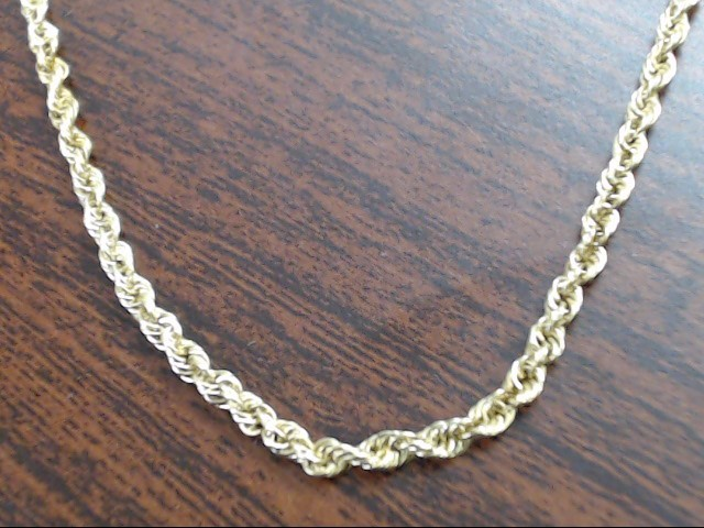 """16"""" Gold Rope Chain 14K Yellow Gold 4.1g"""