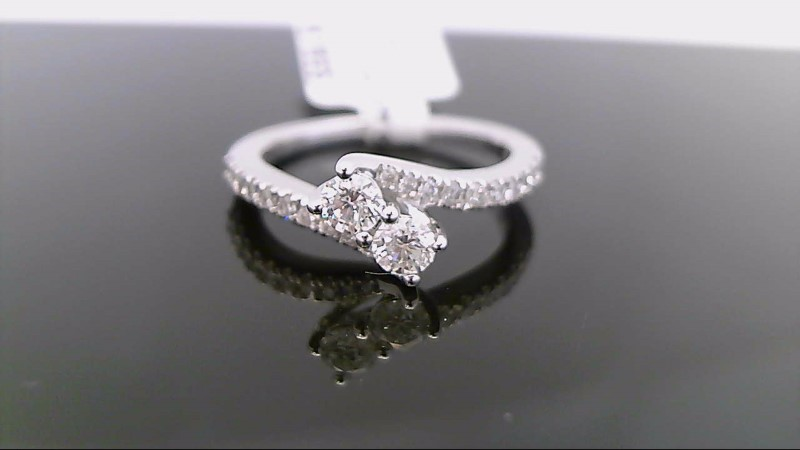 Lady's Diamond Fashion Ring 22 Diamonds .50 Carat T.W. 14K White Gold 3.4g