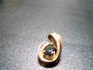 Gold-Diamond Solitaire Pendant 3 Diamonds .17 Carat T.W. 14K Yellow Gold 3g