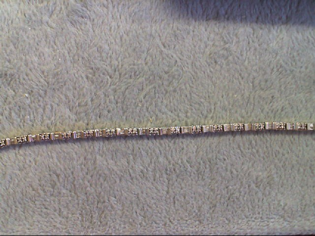 Gold-Diamond Bracelet 84 Diamonds .84 Carat T.W. 14K Yellow Gold 7.7g