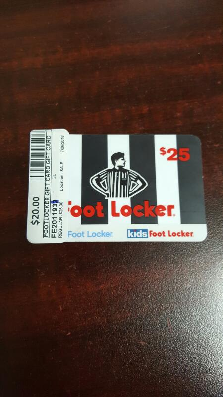 foot locker gift card balance foot locker gift card 25 card in hand ready to ship 8857