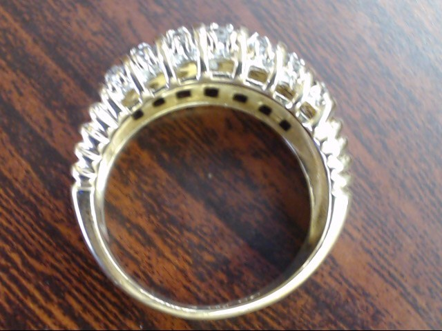 VINTAGE DIAMOND ANNIVERSARY RING BAND SOLID REAL 10K GOLD SIZE 6.25