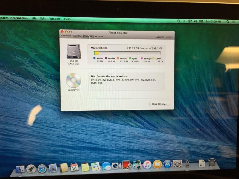 APPLE MACBOOK PRO (MID 2010) INTEL CORE 2 DUO 2.4 GHZ, 4GB, 250GB HD