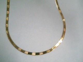 """18"""" Gold Herringbone Chain 14K Yellow Gold 3.6g"""