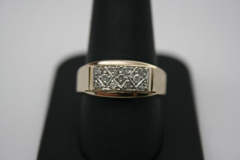 GENT'S FASHION DIAMOND RING 10K YELLOW GOLD