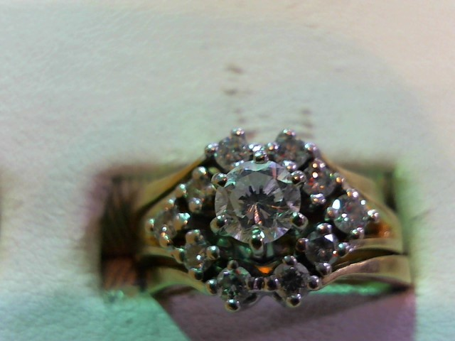 Lady's Diamond Wedding Set 11 Diamonds .95 Carat T.W. 14K Yellow Gold 8.2g
