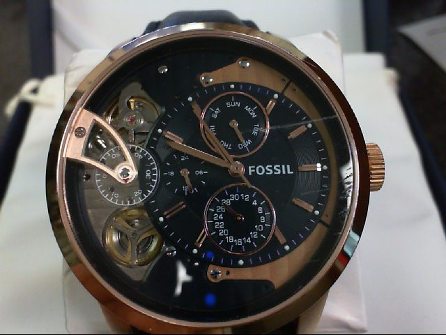 FOSSIL GTS NAVY LEATHER WATCH