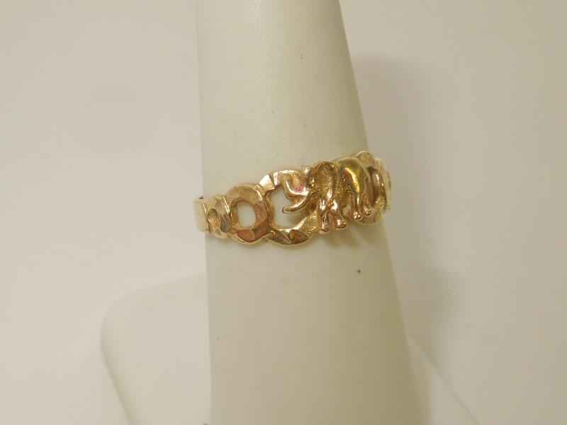Lady's Gold Ring 10K Yellow Gold 2.3g Size:7.5