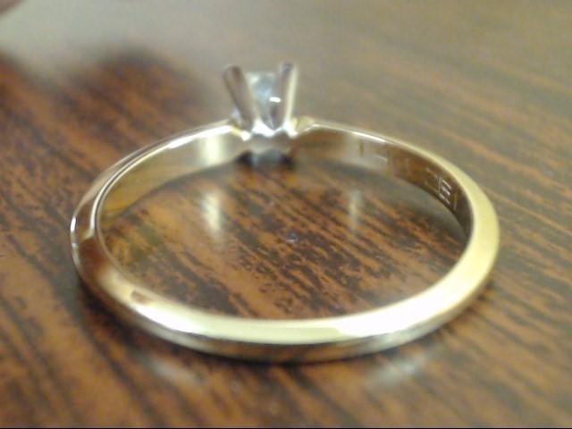 ESTATE ZEI PRINCESS NATURAL DIAMOND ENGAGE WED RING 14K GOLD SIZE 7