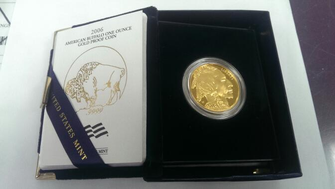 2006 PROOF 1 OZ GOLD AMERICAN BUFFALO BOX AND COA *IN STORE ONLY*