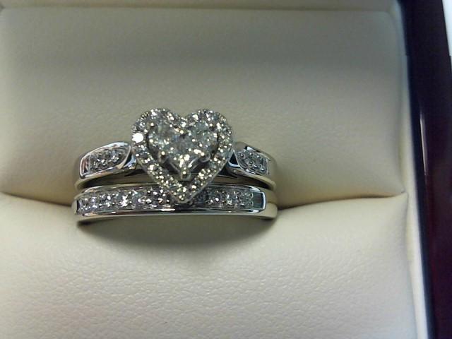 Lady's Diamond Wedding Set 37 Diamonds .49 Carat T.W. 14K White Gold 3.9dwt