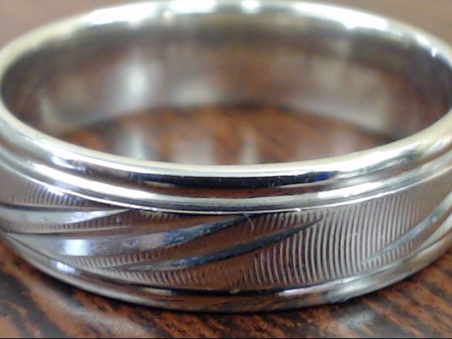 ESTATE CAMELOT WEDDING RING BAND SOLID REAL 14K WHITE GOLD SIZE 10