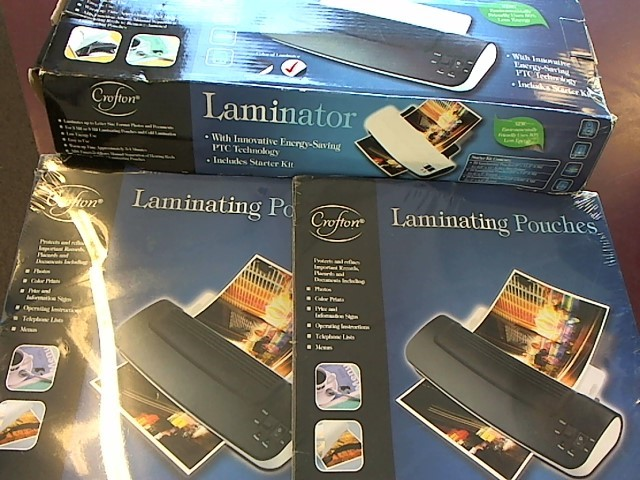 CROFTON LAMINATOR 90162-13 with 80 Pouches