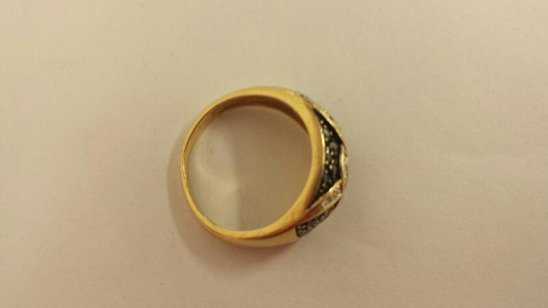 Lady's Diamond Cluster Ring 26 Diamonds .26 Carat T.W. 14K Yellow Gold 3.1dwt