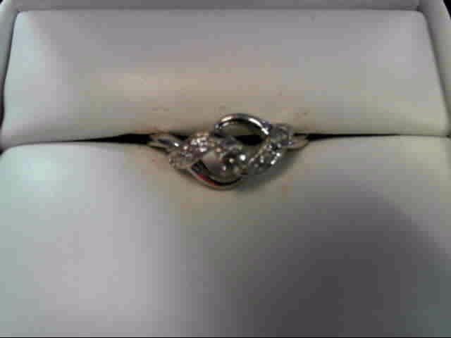Lady's Diamond Cluster Ring 11 Diamonds .21 Carat T.W. 10K White Gold 1.1dwt