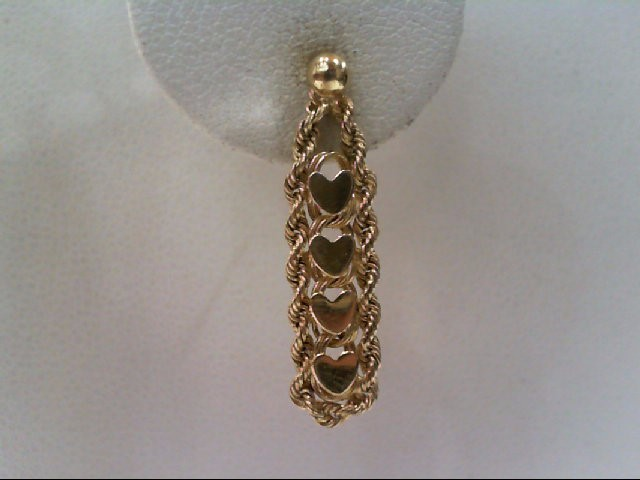 Gold Earrings 14K Yellow Gold 2g